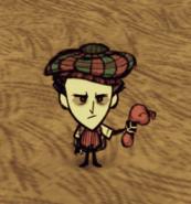 Wilson con un globo de agua