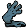Cobaltous Oxide Blue Long Gloves Icon