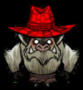 Swamp Pig red straw hat