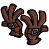 Firehound Red Buckled Gloves Icon
