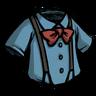 Rubber Glove Blue Suspension Shirt Icon