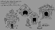 RWP 237 Hamlet Pig Ruins concepts