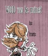 Woodie Valentine Card
