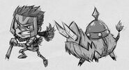 Wigfrid and Boarrior Drawing