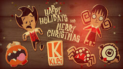Don't Starve Wilson and Willow Christmas 2017 poster.jpg