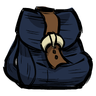 Monastral Blue Buckled Backpack Icon