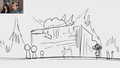 Voxola Fire in storyboard