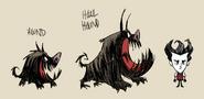 Hound and Howl Hound concept art