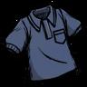 Hyper-Intelligent Blue Collared Shirt Icon