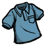 Rubber Glove Blue Collared Shirt Icon