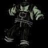 Scribble Black Overalls Icon