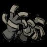 Silver Gray Unprotective Gloves Icon