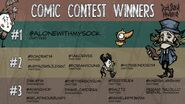 Don't Starve Newhome Comic Contest Winners
