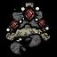Prachtvolles Ornament Krabbenkönig