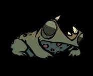 Лягушка спит