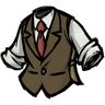 Insufficient Chocolate Brown Tweed Waistcoat скин