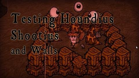 Don't Starve - Houndius Shootius and Walls (Test)