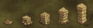 Niveaux mur en pierre