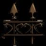 Antique Bronze Fence Icon