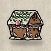Treasurechest gingerbread collection icon