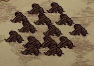 Уголь на земле