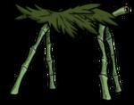 Hutte de feuilles de palmier