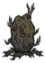 Potato plant oversize rot