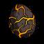 Треснувшее яйцо лавовой личинки