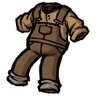 Werebeaver Brown Overalls скин