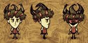 Wilson wearing flowerhat ribbon wreath