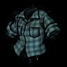 Electrolytic Blue Lumberjack Shirt скин