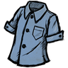 Schematic Blue Buttoned Shirt скин