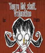 Карточка Уиллоу на Валентинов день