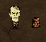 Максвелл в чешуйчатой броне и чешуйчатая броня на земле
