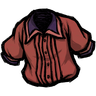 Higgsbury Red Pleated Shirt скин