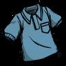 Rubber Glove Blue Collared Shirt скин