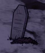 Могила с надгробьем