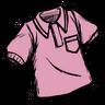 Pigman Pink Collared Shirt скин