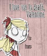 Карточка с Венди на Валентинов день
