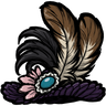 Feather Trimmed Hat Icon