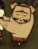 Свин наелся