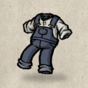 Overalls blue denim collection icon