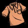 Fishy Tincture Orange Collared Shirt скин