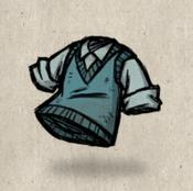 Sweatervest blue snowbird collection icon