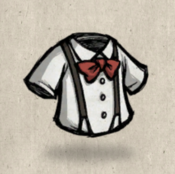 Suspenders white pure collection icon