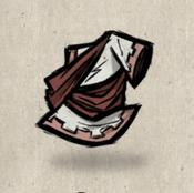 Toga white pure collection icon