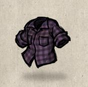 Flannel purple grape collection icon