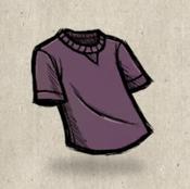 Tshirt purple mauve collection icon
