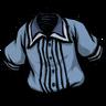 Schematic Blue Pleated Shirt скин