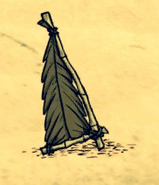 Thatch Sail on the ground